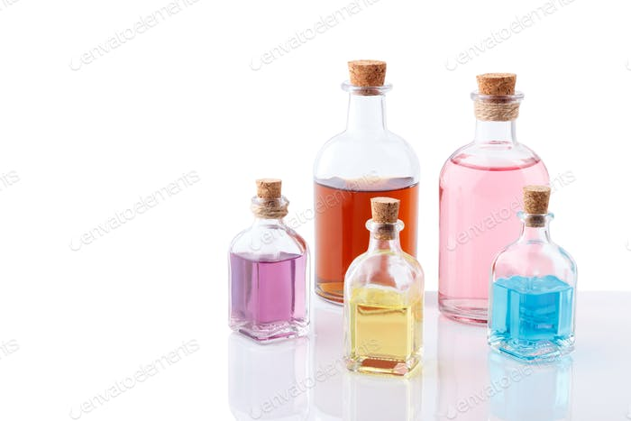 Colorful essential oils