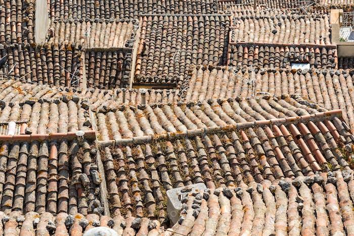 Die Dächer von Gangi in Sizilien