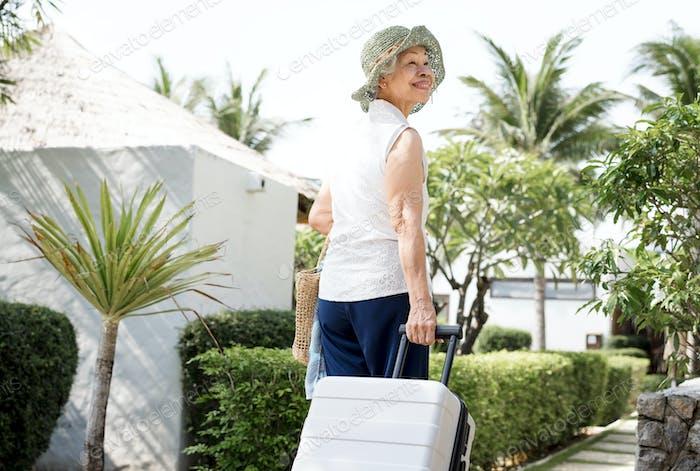 Senior woman on vacation
