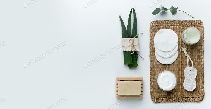 Natürliche Aloe Pflanze, pflegende Körperbutter, Öko-Bad Produkte