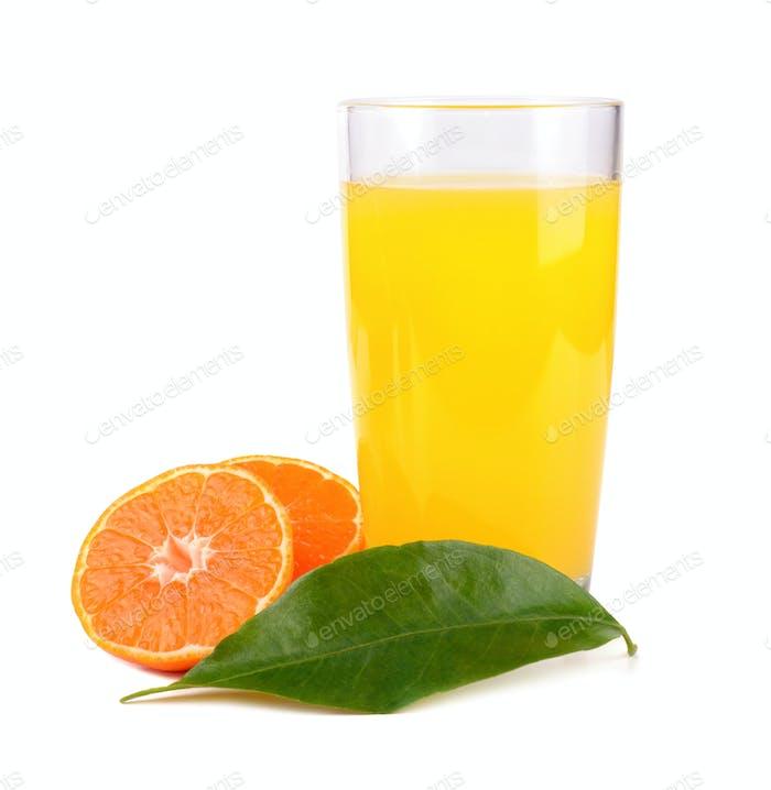 Juice from tangerine