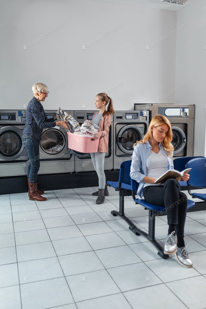 Getting their laundry done