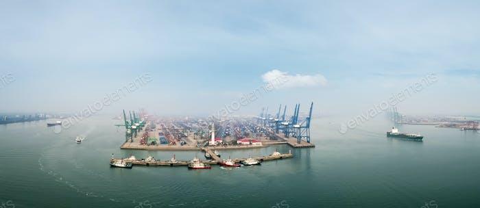 tianjin port panorama