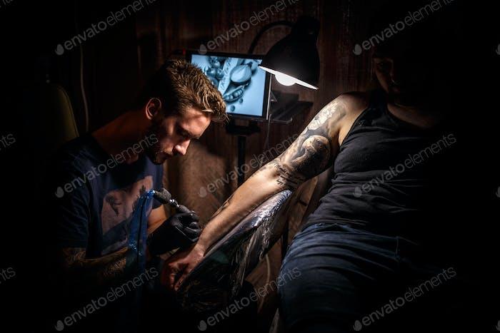 Tattoo male artist