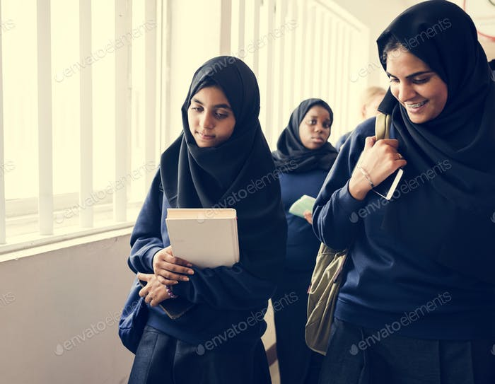A group of Muslim students