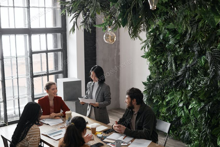 Diverse Business Team in Coworking