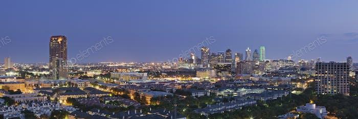 Dallas Neighborhood in the Evening
