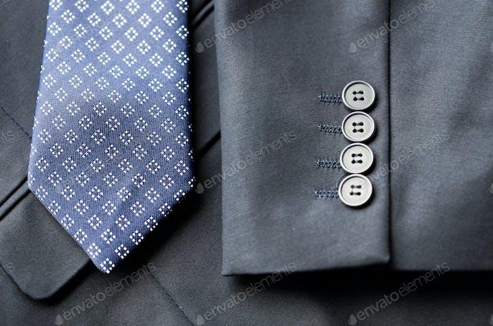 cerca de la chaqueta de traje Negocios y corbata