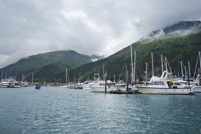 Harbor and Boats in Seward Alaska
