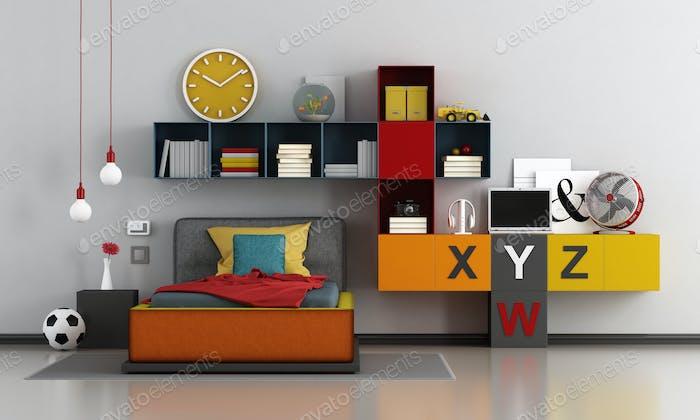 Colorful teen room
