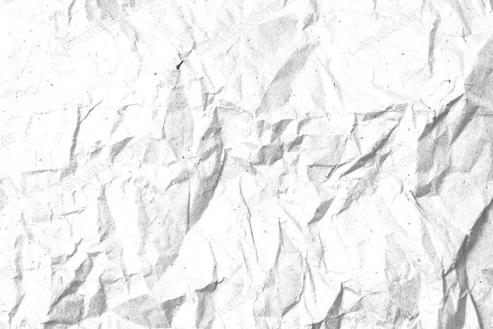 Crumpled paper texture template for overlay