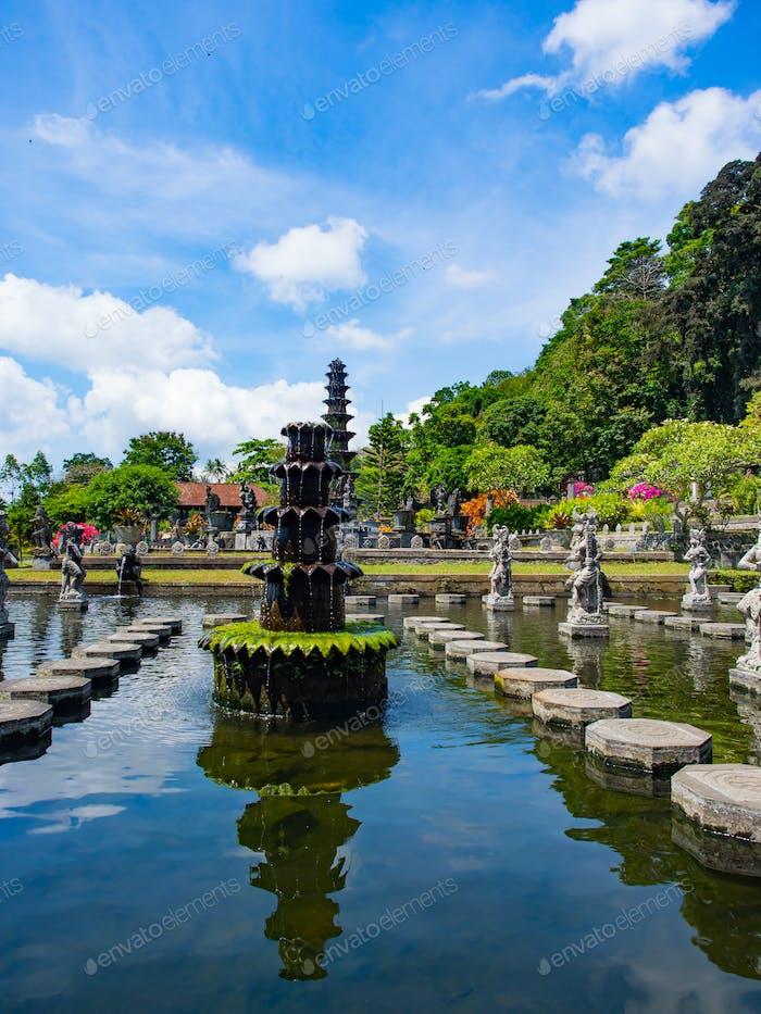 Royal water palace and pools Tirthagangga, Bali island
