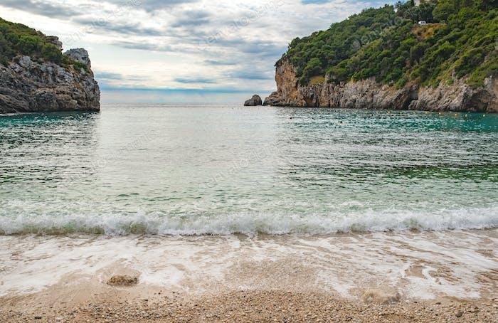Amazing bay on Corfu island
