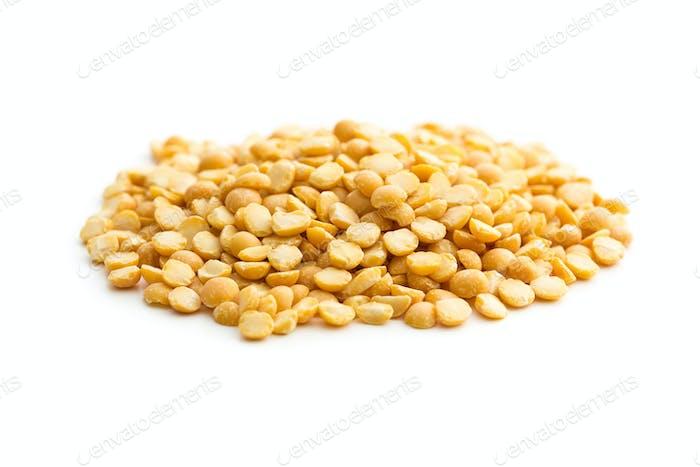 Yellow split peas.