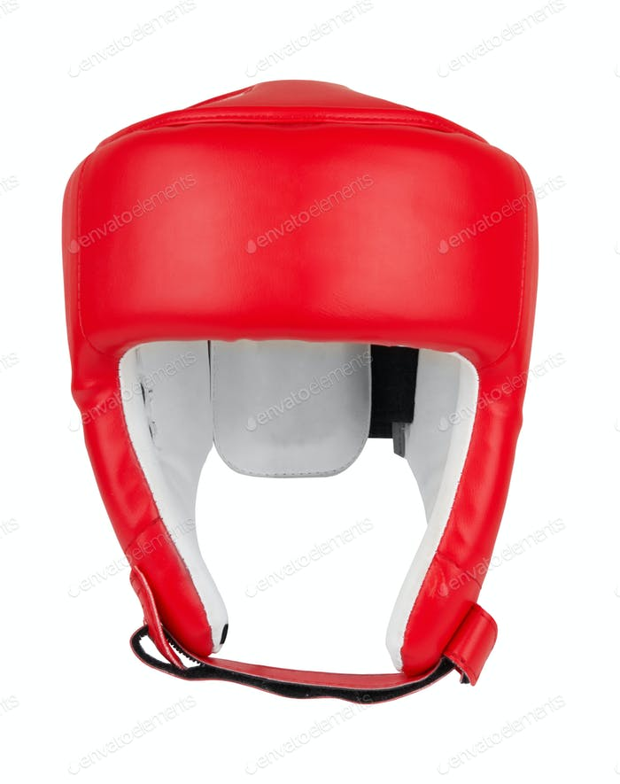 boxing helmet isolated