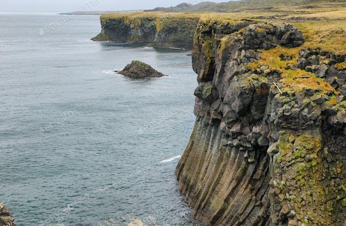 Basalt cliffs at Arnarstapi