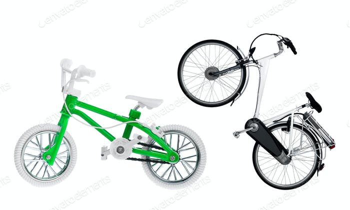 adult and children's bike
