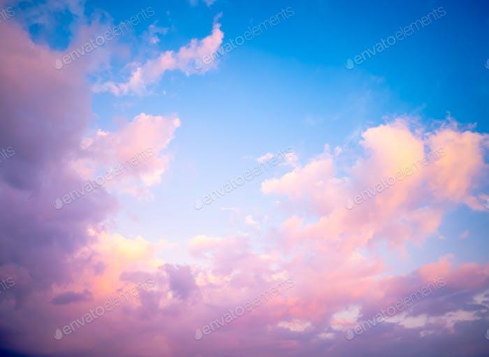 Schöner Pastellhimmel