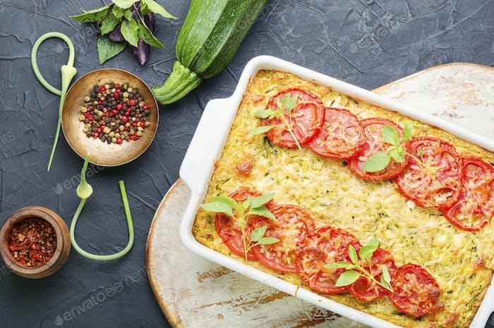 Zucchini vegetable casserole