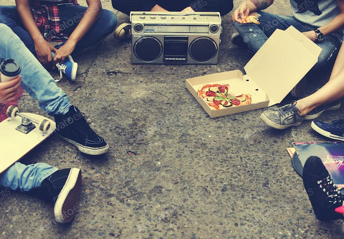 Pizza Food Sharing Togetherness Friendship Community Youth Cultu