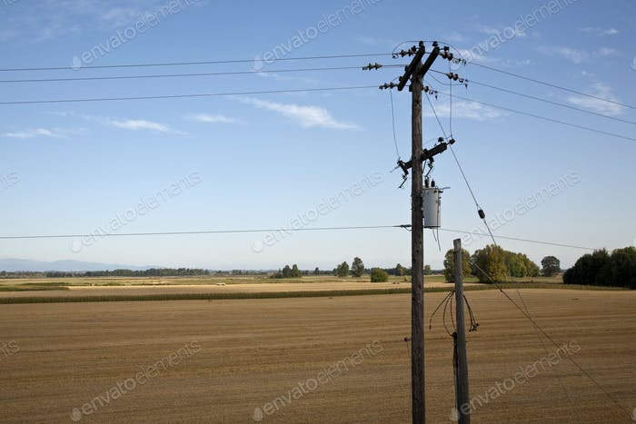 Utility Wires in Rural Area