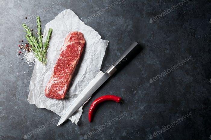 Thumbnail for Raw striploin steak