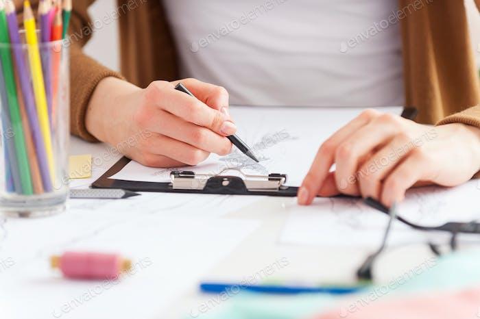Primer plano sobre la creatividad.