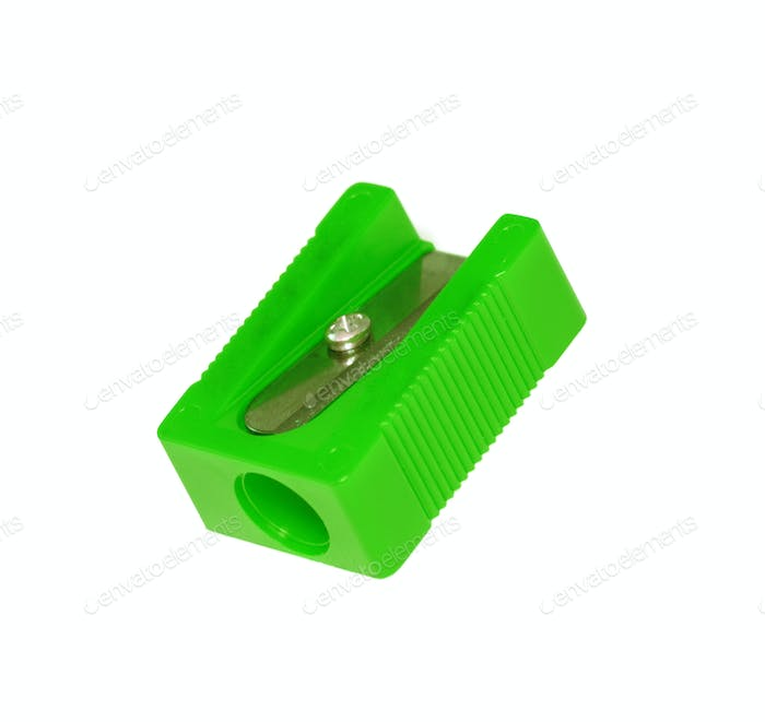 Pencil sharpener isolated on white