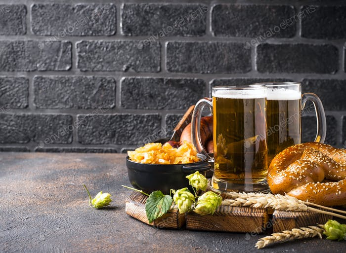 Bier, Brezeln und bayerische Küche