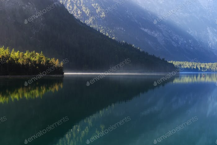 Lake reflection at Austria