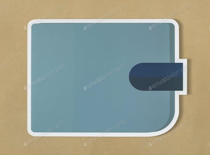 Blue wallet financial concept icon
