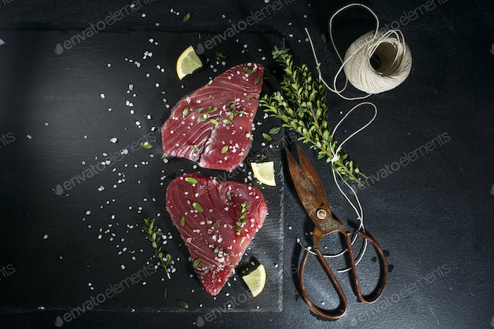 Fresh tuna slice