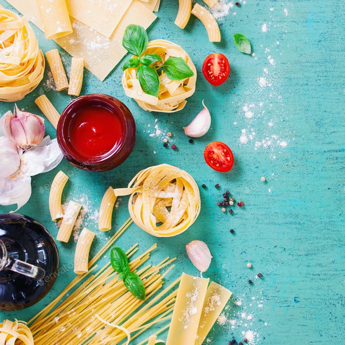 Italian food pasta food background