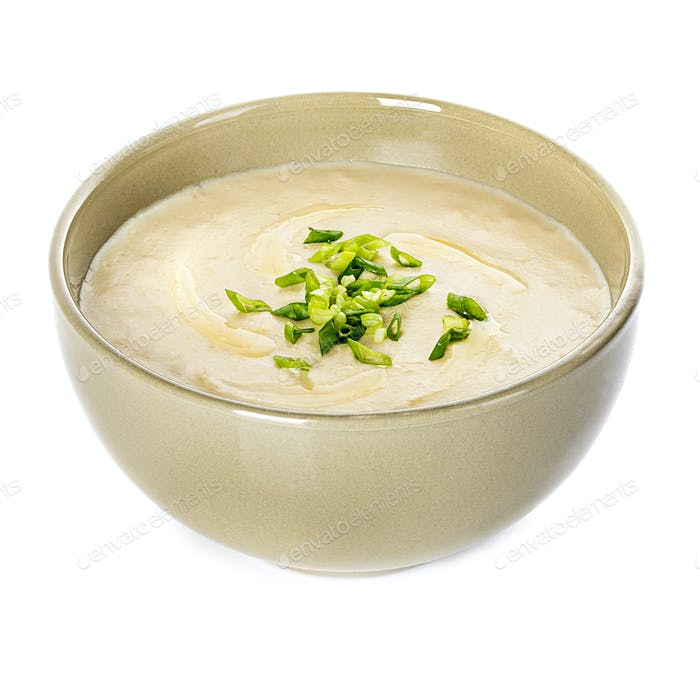 Vichyssoise, traditional french soup