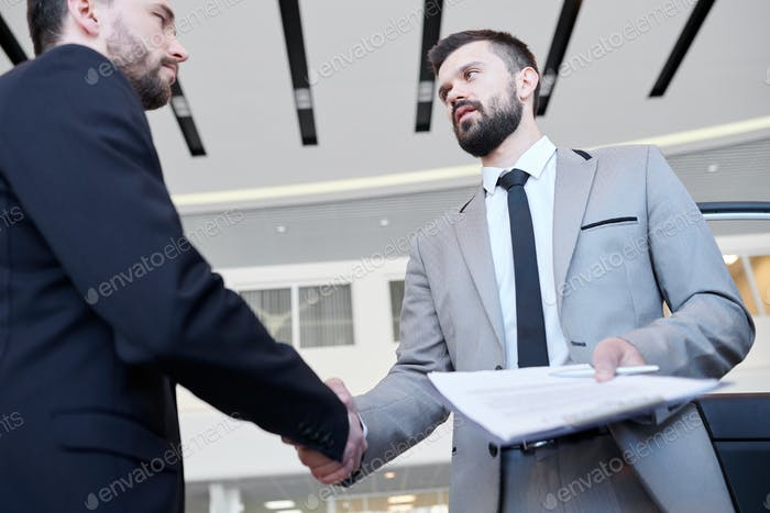 Businessmen concluding a deal