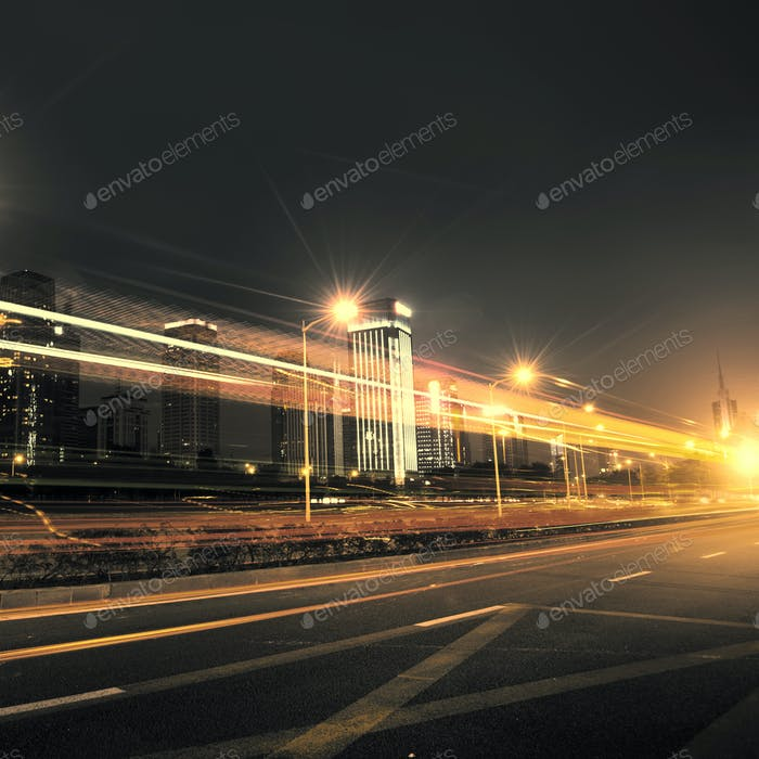 light trails