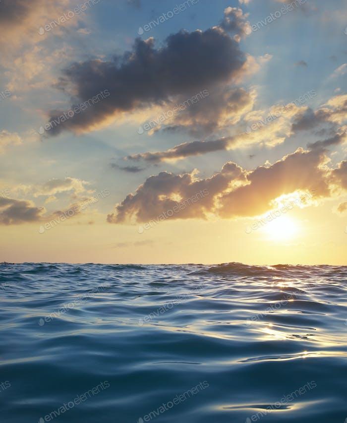 Waves on sunset.