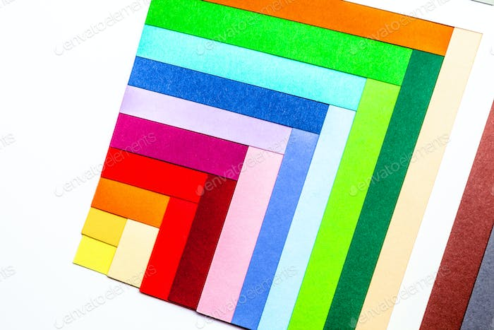 Cardboards of colors