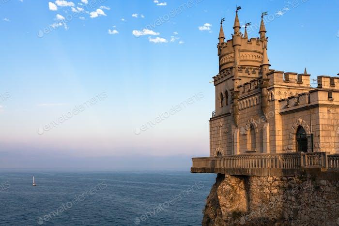 Swallow Nest Castle over Black Sea in Crimea