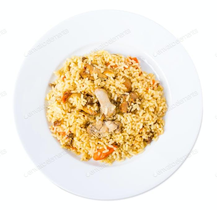 Delicious chicken pilaf.
