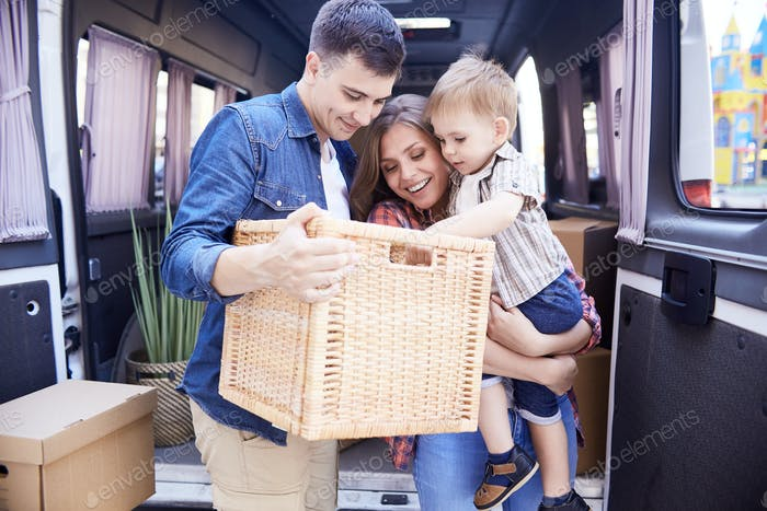 Loving Family Moving House
