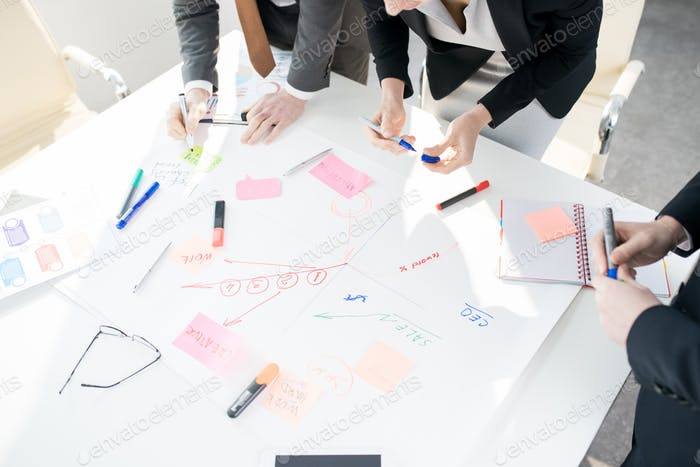 Business People Building Successful Development Strategy
