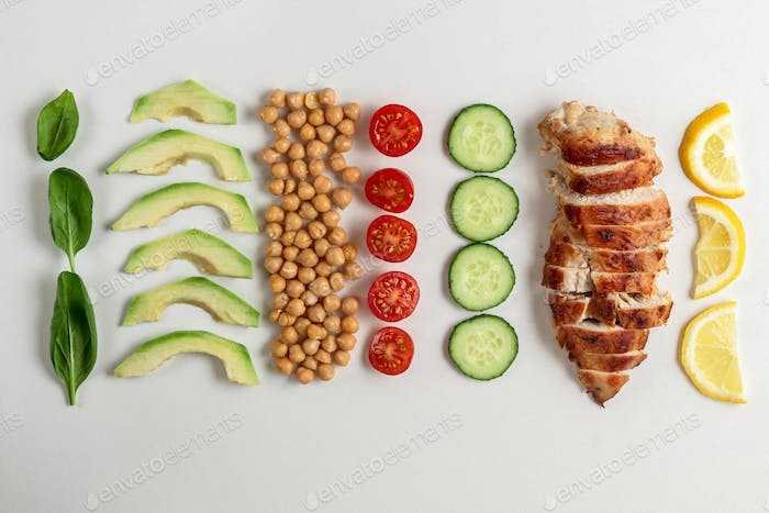Cooked Ingredients for Dietary salad