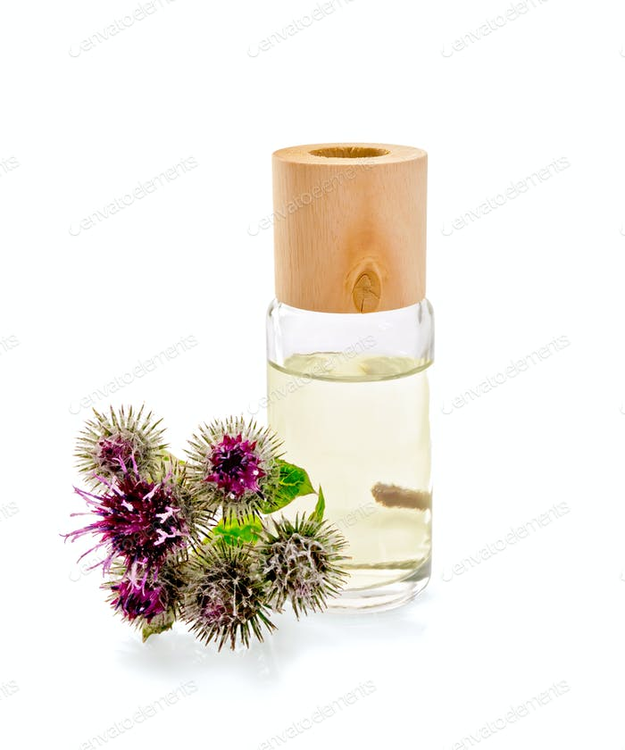 Oil with burdock