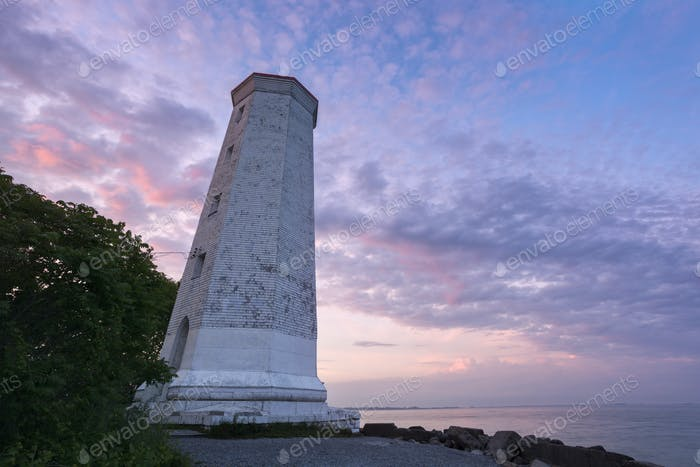 Presqu'ile Point Lighthouse by Lake Ontario