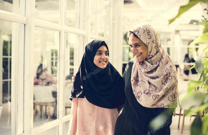 A group of young Muslim women