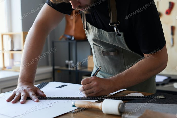 Man Cutting Patterns
