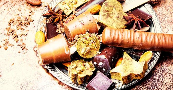 Set of luxury sweets