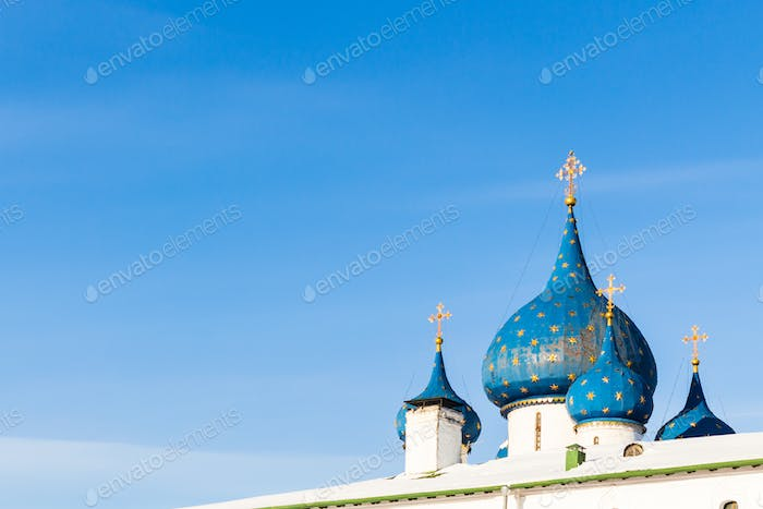 cupola of Cathedral of the Nativity in Suzdal town