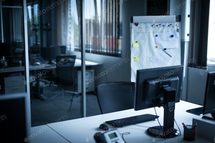 Empty work space